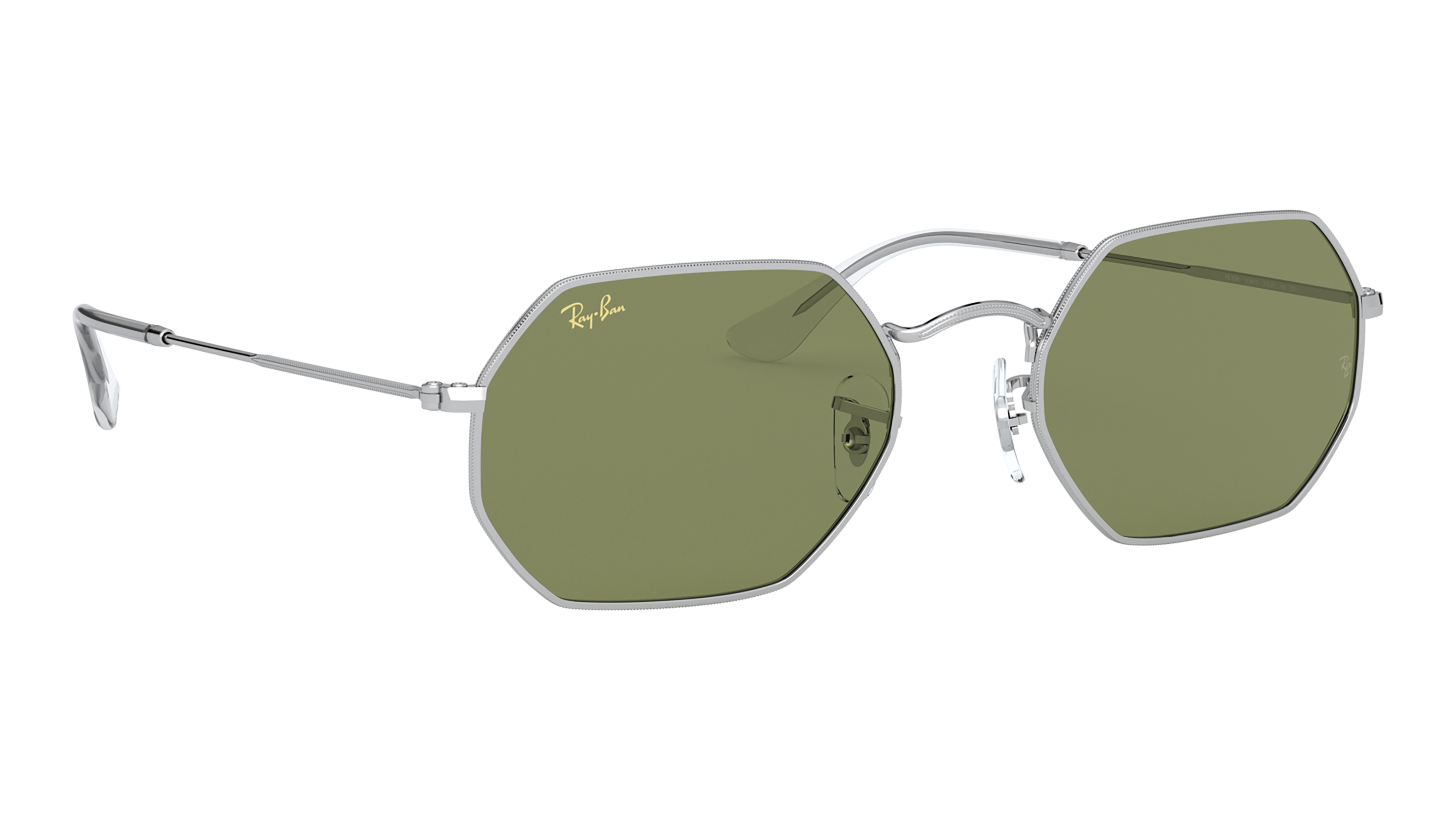 Angle_Right02 Ray-Ban Ray-Ban 0RB3556 91984E 53/21 Zilver/Groen