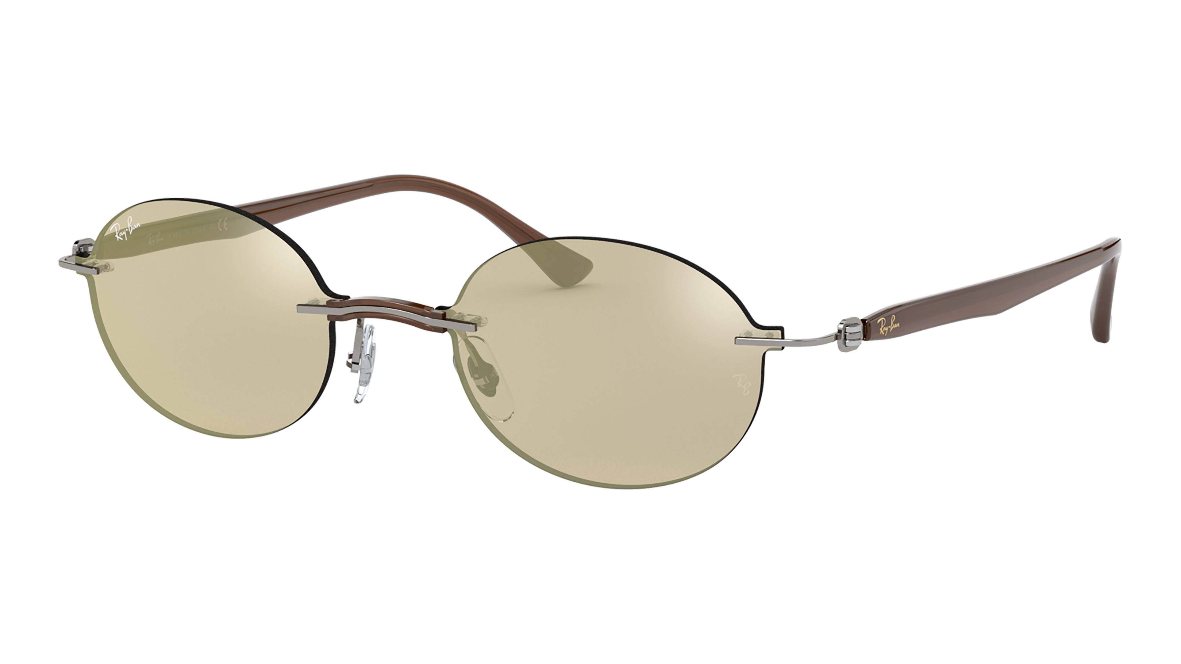 Angle_Left02 Ray-Ban Ray-Ban 0RB8060 159/5A 54/15 Transparant, Zilver/Grijs
