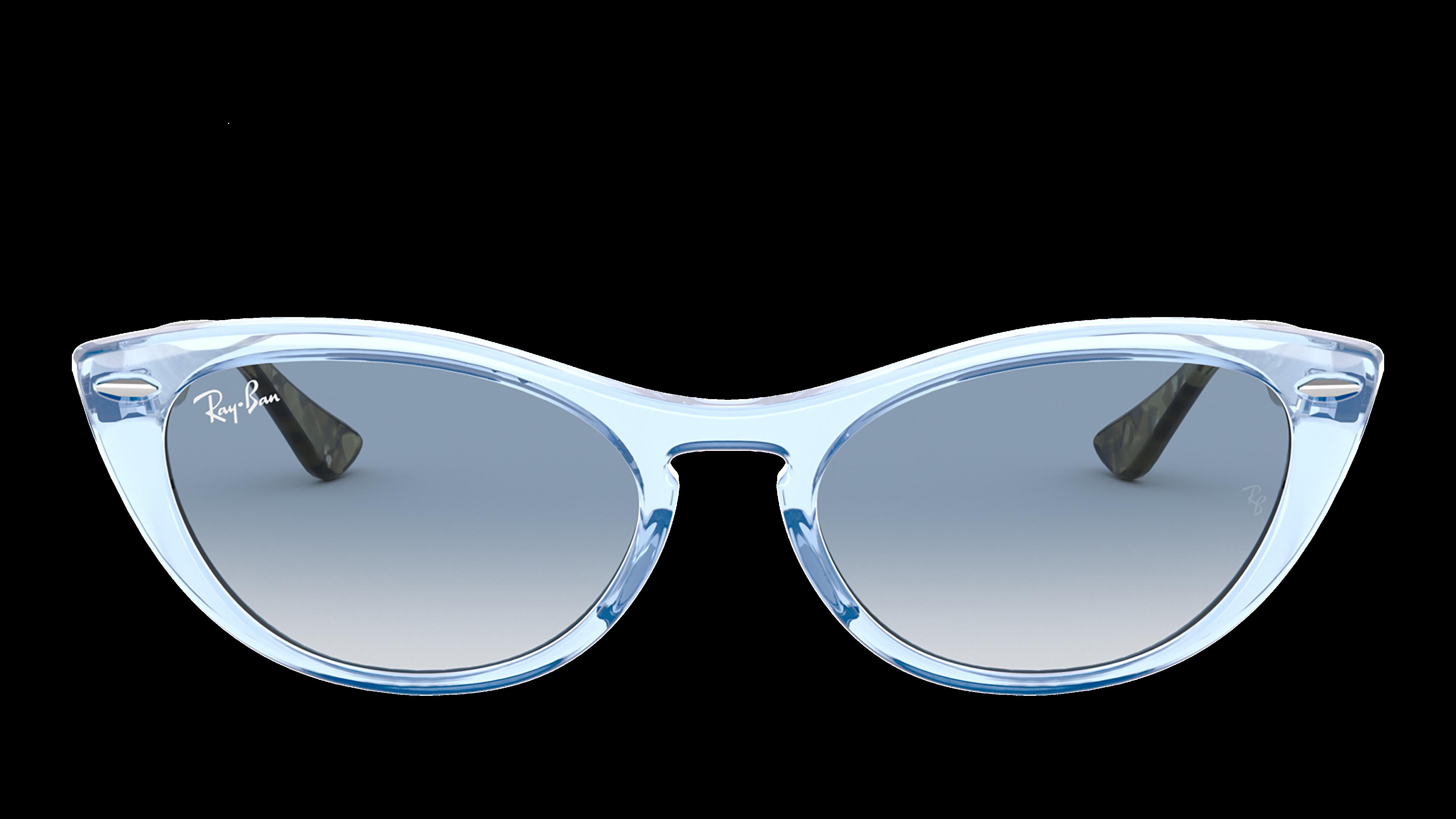 Front Ray-Ban Ray-Ban 0RB4314N 12833F 54/18 Blauw, Transparant/Blauw