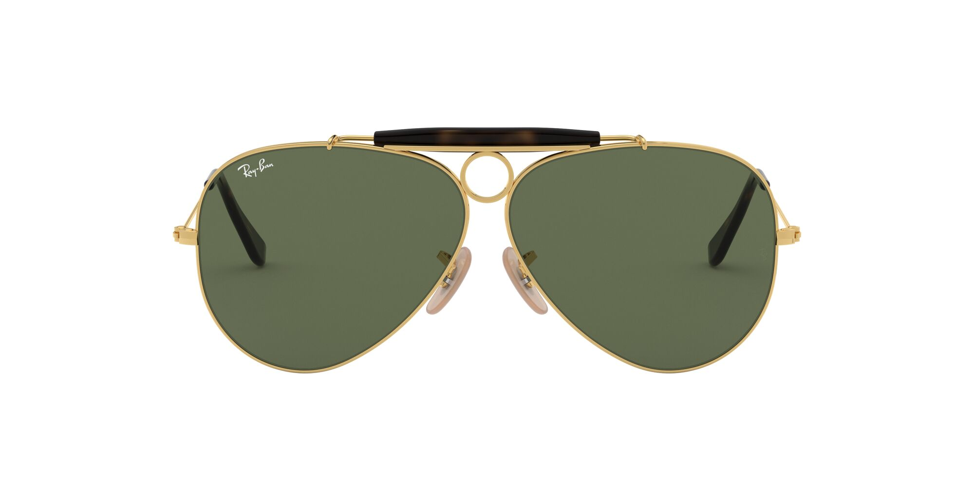 Front Ray-Ban Ray-Ban 0RB3138 181 62/9 Goud, Groen/Groen