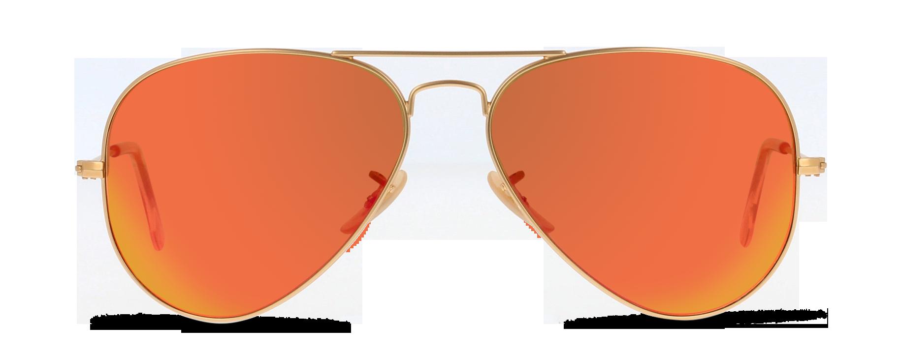 Front Ray-Ban Ray-Ban 3025 112/69 58/14 Goud/Oranje