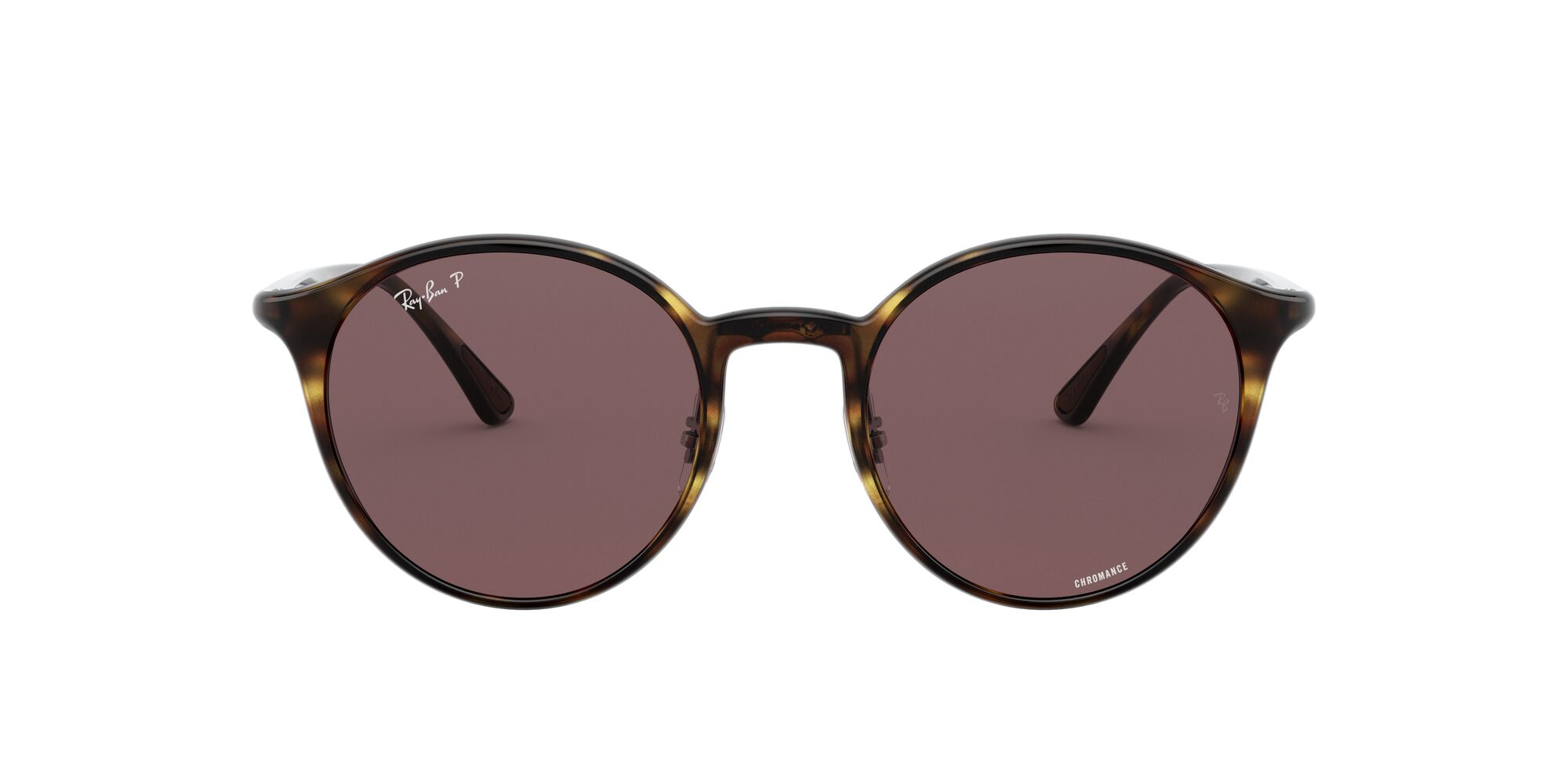 Front Ray-Ban Ray-Ban 0RB4336CH 710/BC 50/20 Bruin/Paars