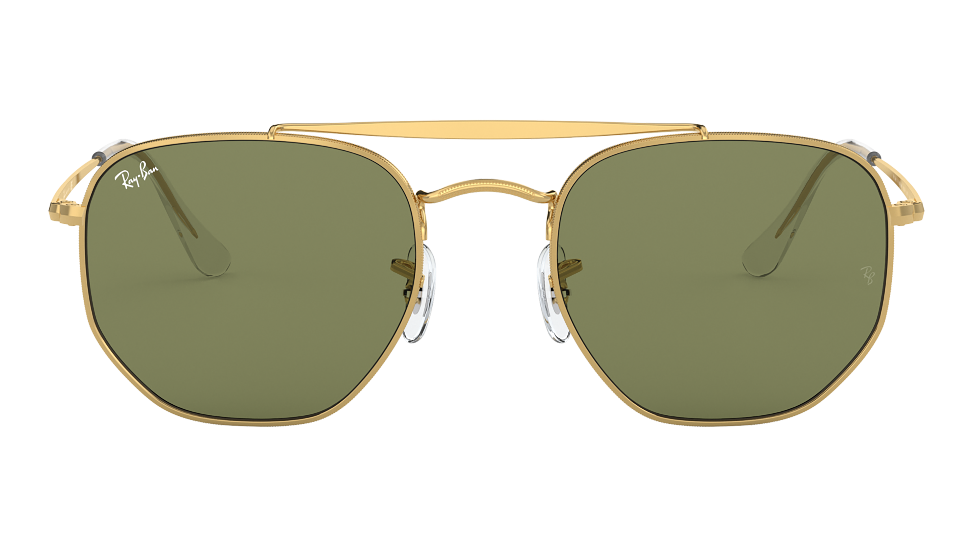 Front Ray-Ban Ray-Ban 0RB3648 001/4E 54/21 Goud/Groen
