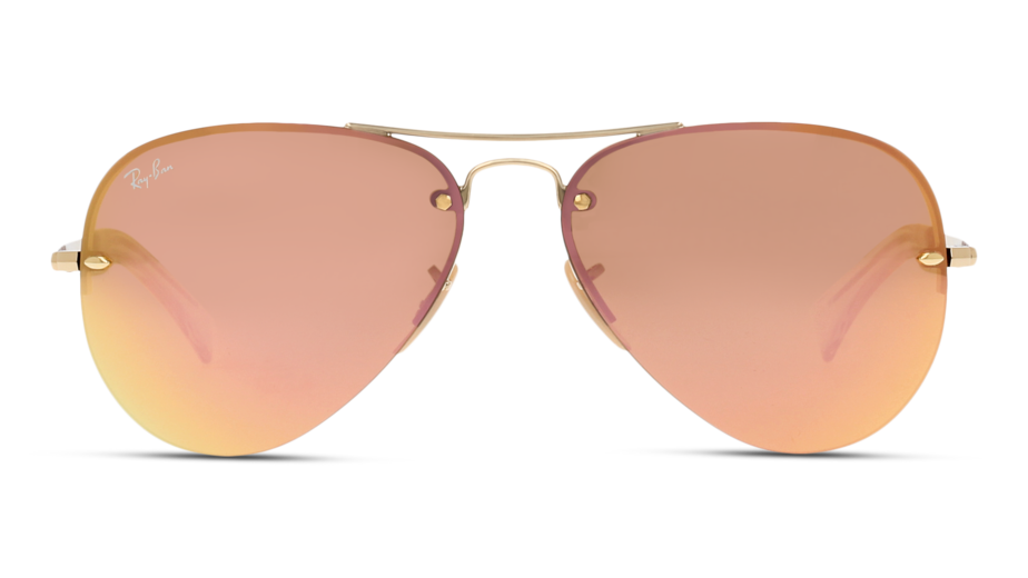 Front Ray-Ban Ray-Ban 3449 001/2Y 59/14 Goud/Roze