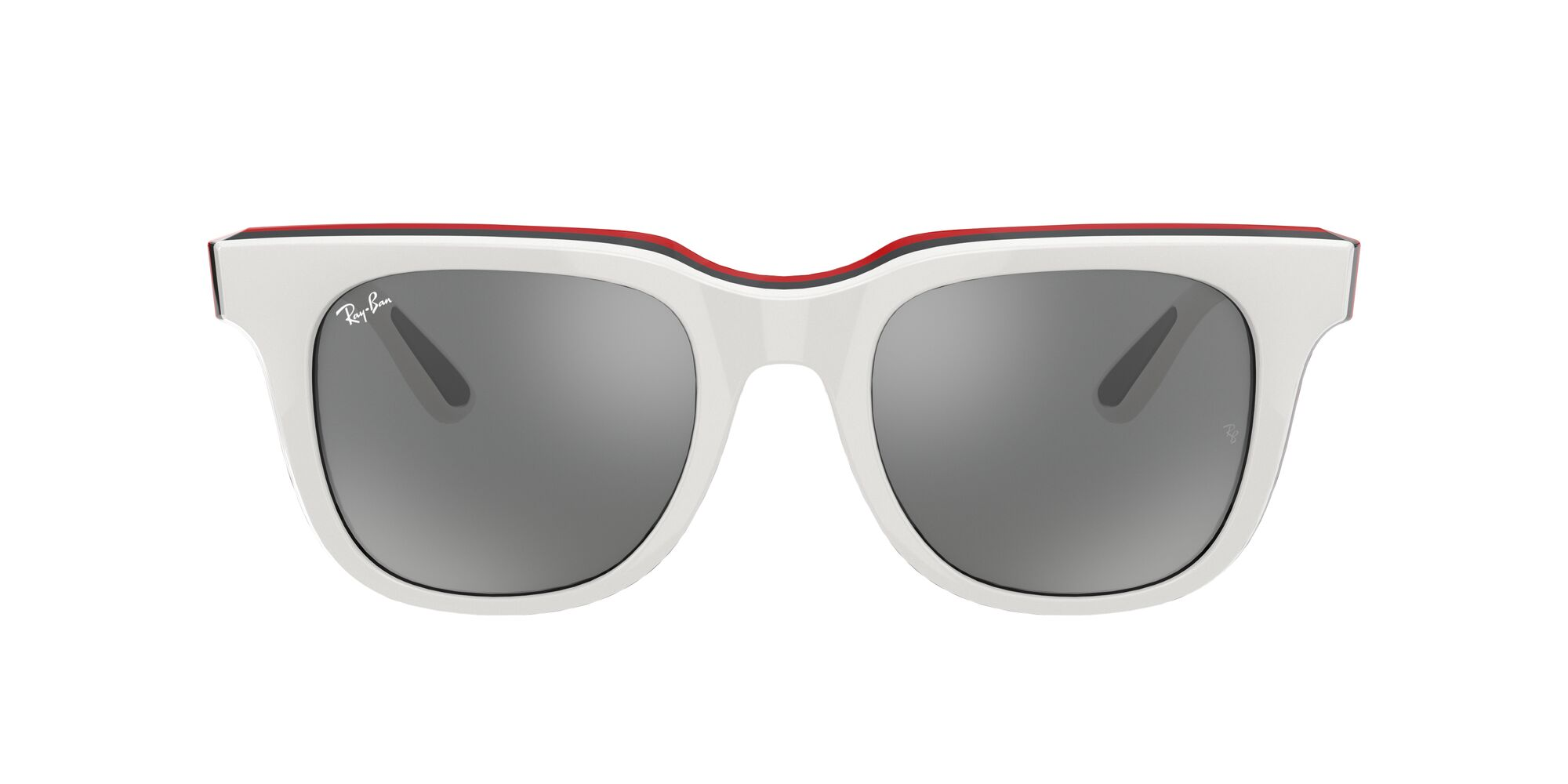 Front Ray-Ban Ray-Ban 0RB4368 65196G 0/21 Beige, Rood/Grijs