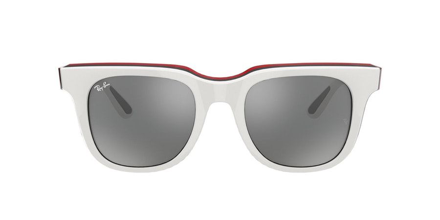 Ray-Ban 0RB4368 65196G Grijs / Beige, Rood