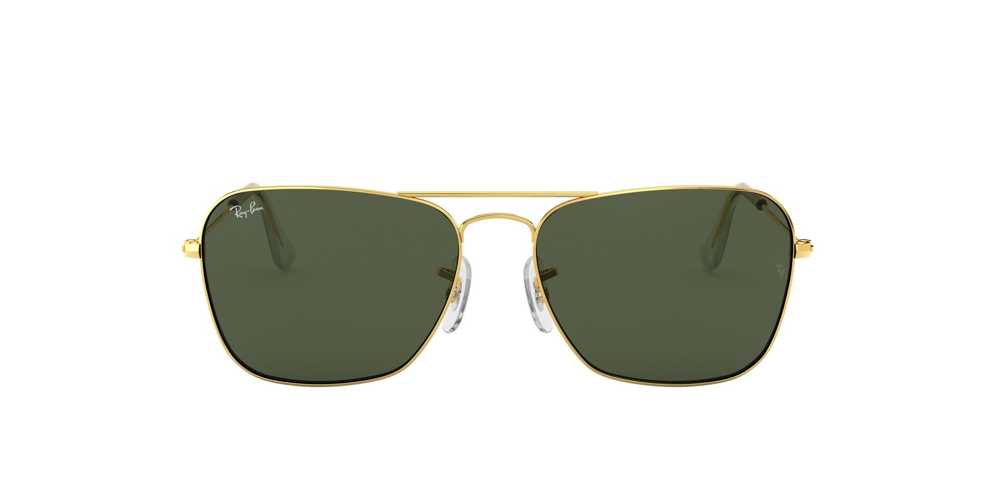 Front Ray-Ban Ray-Ban RB3136 001 55/15 Goud/Groen
