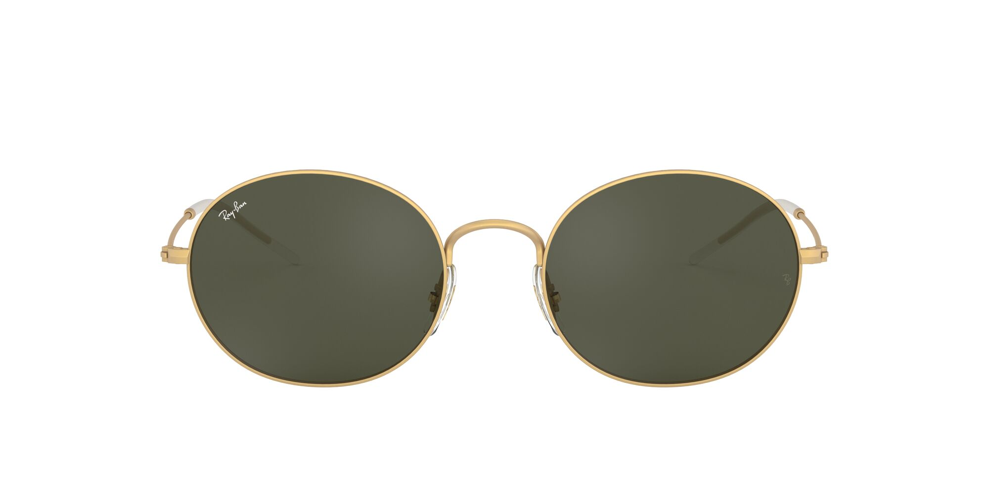 Front Ray-Ban Ray-Ban 0RB3594 901371 53/20 Goud/Groen