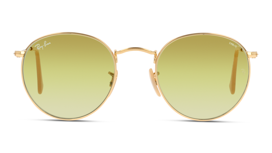 Front Ray-Ban Ray-Ban 0RB3447 90644C 50/21 Goud/Groen