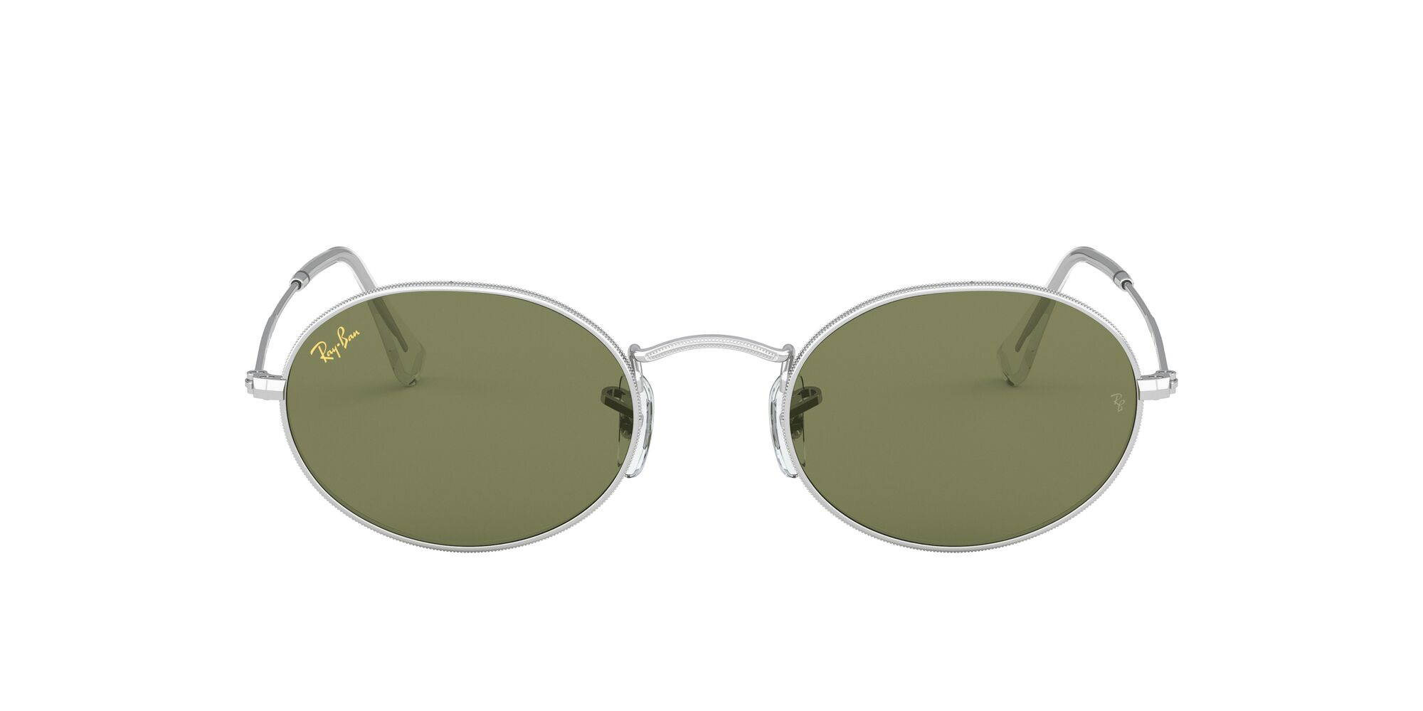 Front Ray-Ban Ray-Ban 0RB3547 91984E 54/21 Zilver/Groen