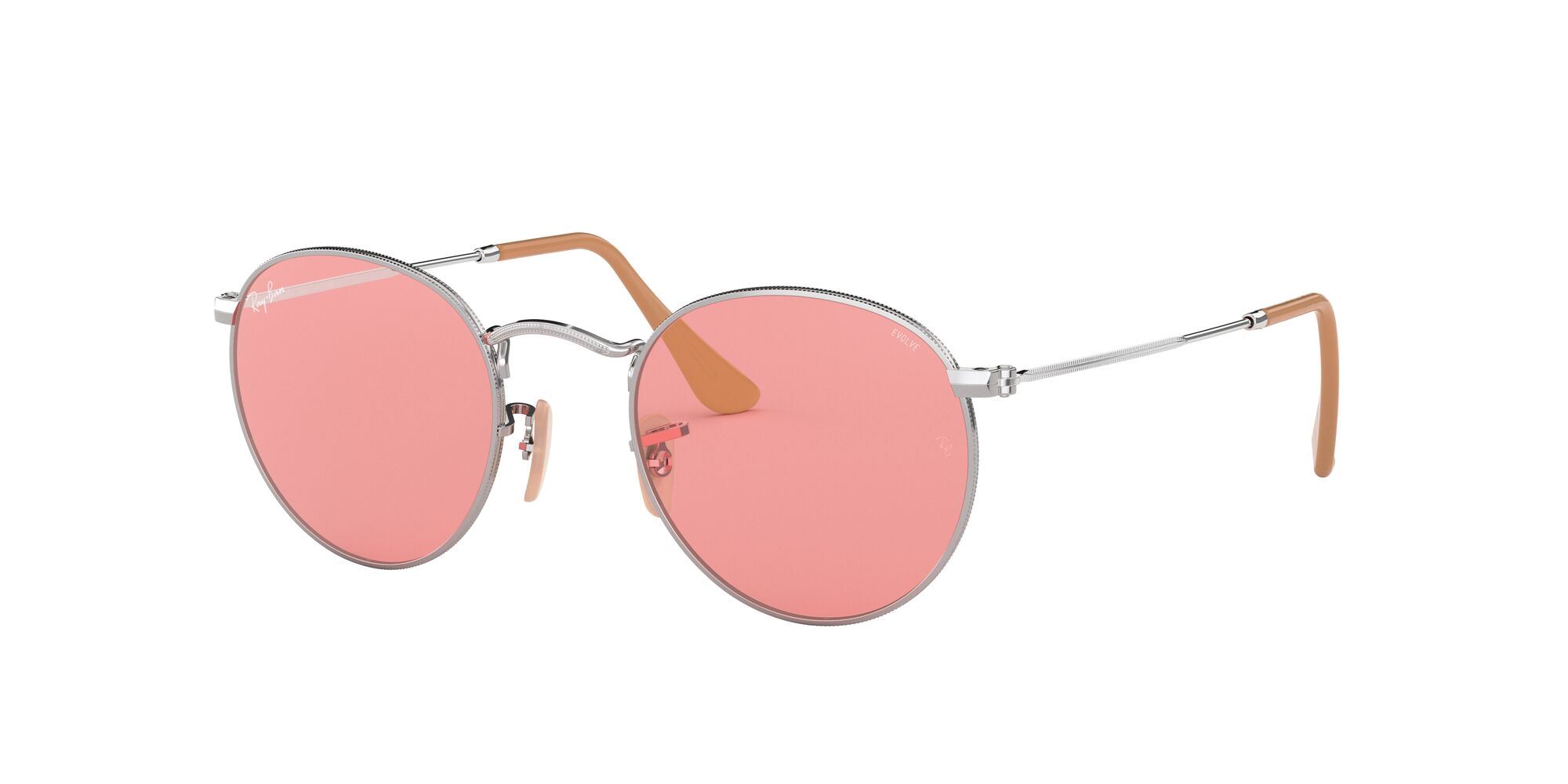 Angle_Left01 Ray-Ban Ray-Ban 0RB3447 9065V7 53/21 Zilver/Roze