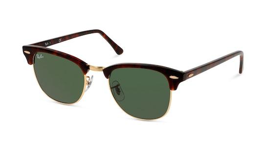 Clubmaster RB3016 W0366 Verde / Tartaruga e Dourado