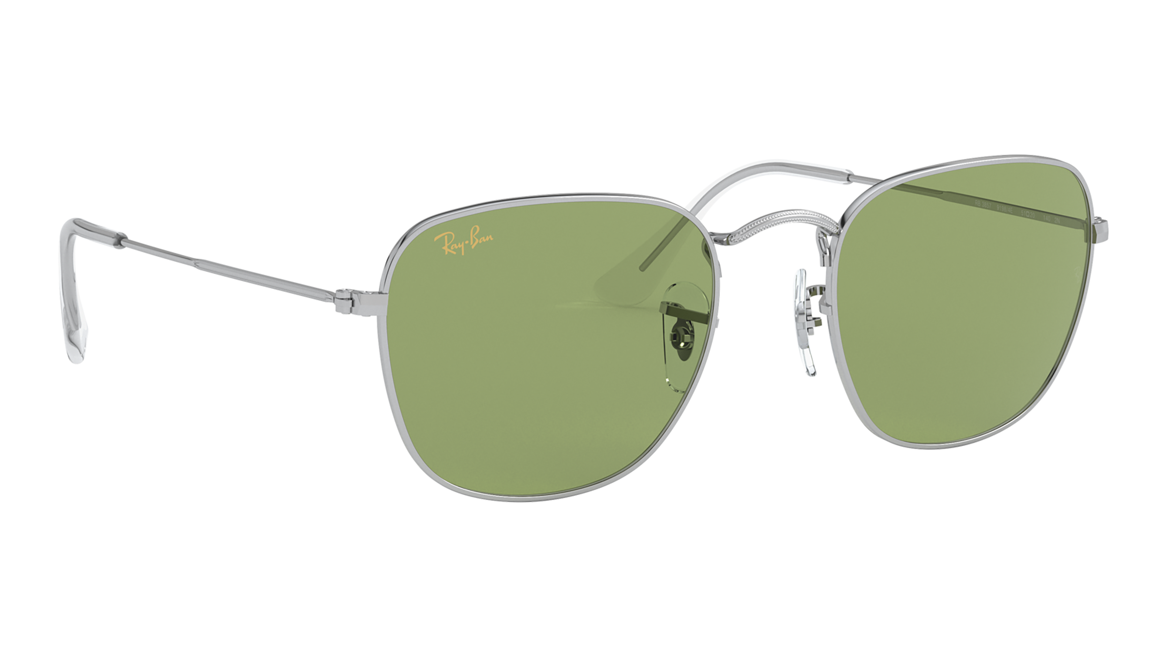 Angle_Right02 Ray-Ban Ray-Ban 0RB3857 91984E 51/20 Zilver/Groen