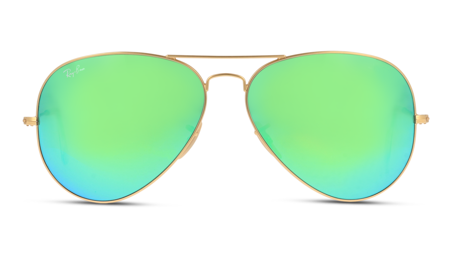 Front Ray-Ban Ray-Ban 0RB3025 112/19 62/14 Goud/Groen