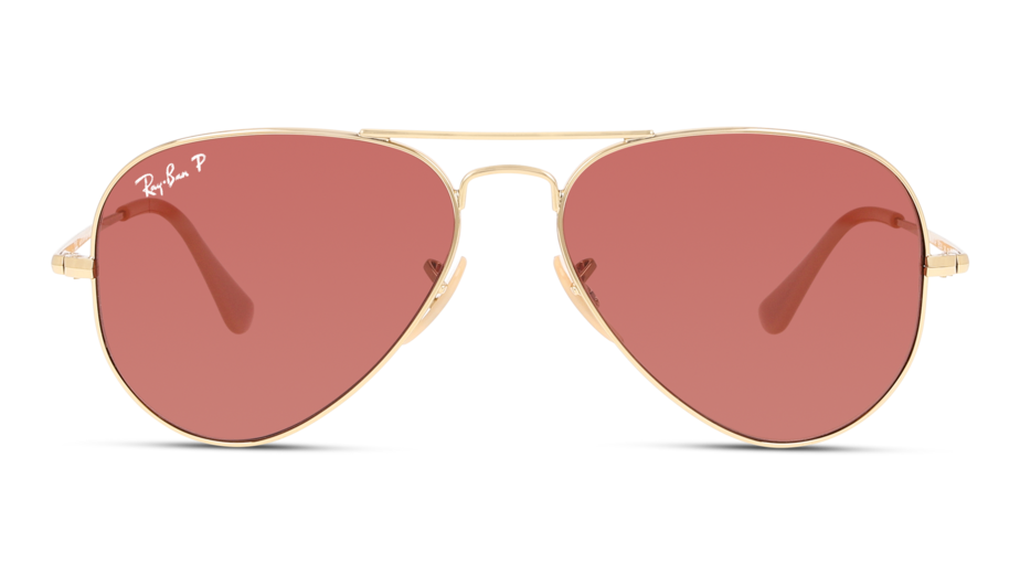 Front Ray-Ban Ray-Ban 0RB3689 9064AF 55/14 Goud/Roze