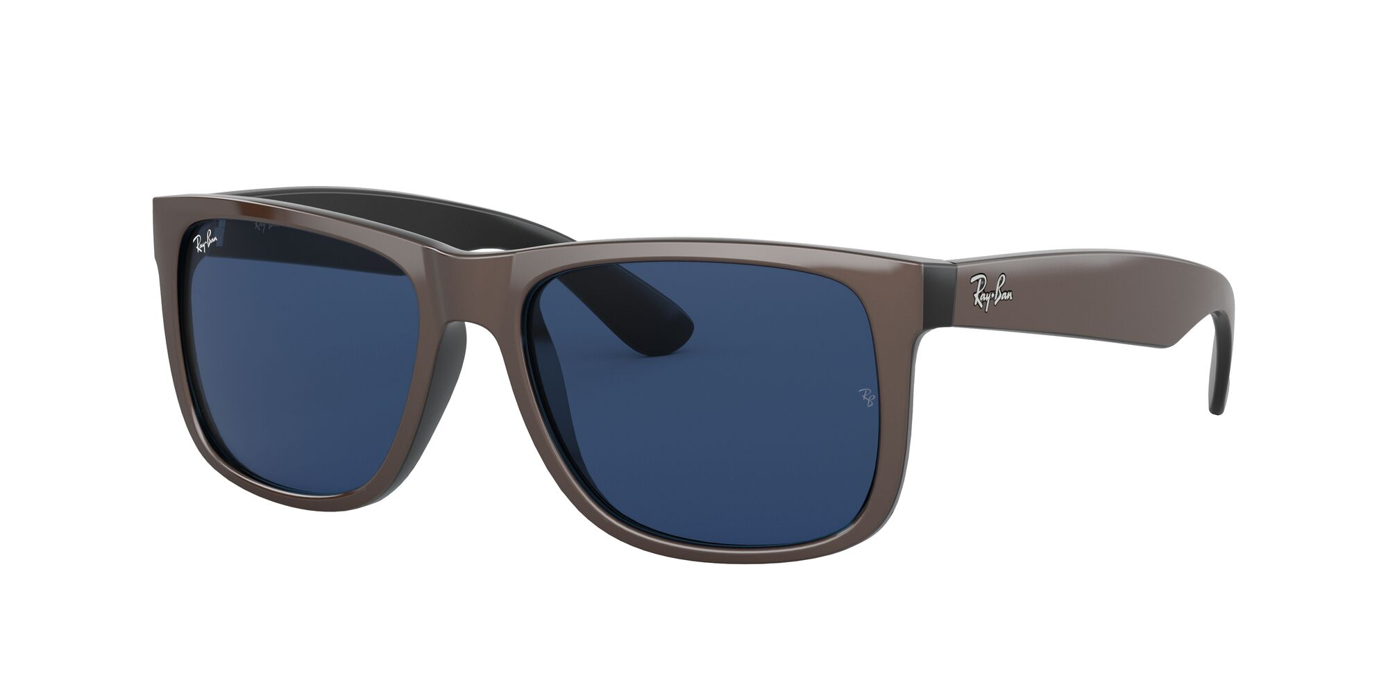 Angle_Left01 Ray-Ban Ray-Ban 0RB4165 647080 53/16 Bruin, Zilver/Blauw