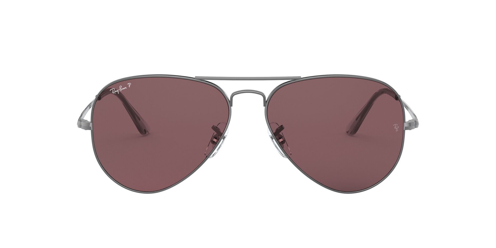 Front Ray-Ban Ray-Ban 0RB3689 004/AF 54/14 Zilver/Paars