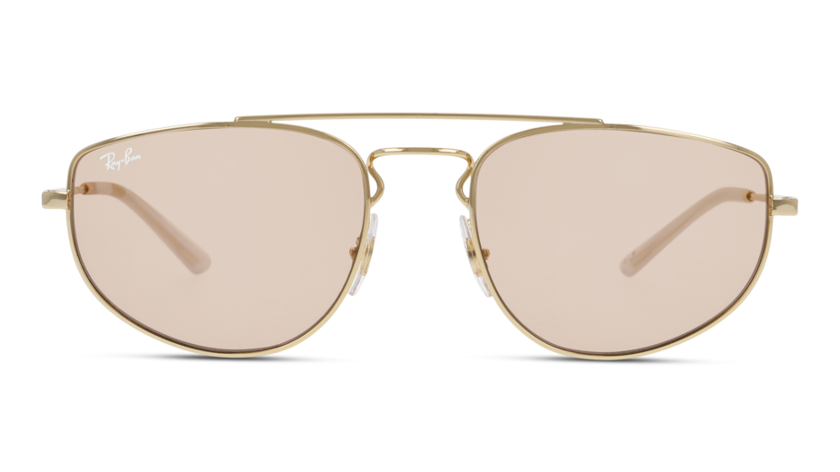 Front Ray-Ban Ray-Ban 0RB3668 001/Q4 55/19 Goud/Bruin