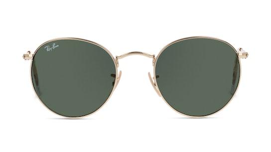 Round Metal RB3447 001 50 Verde / Dourado