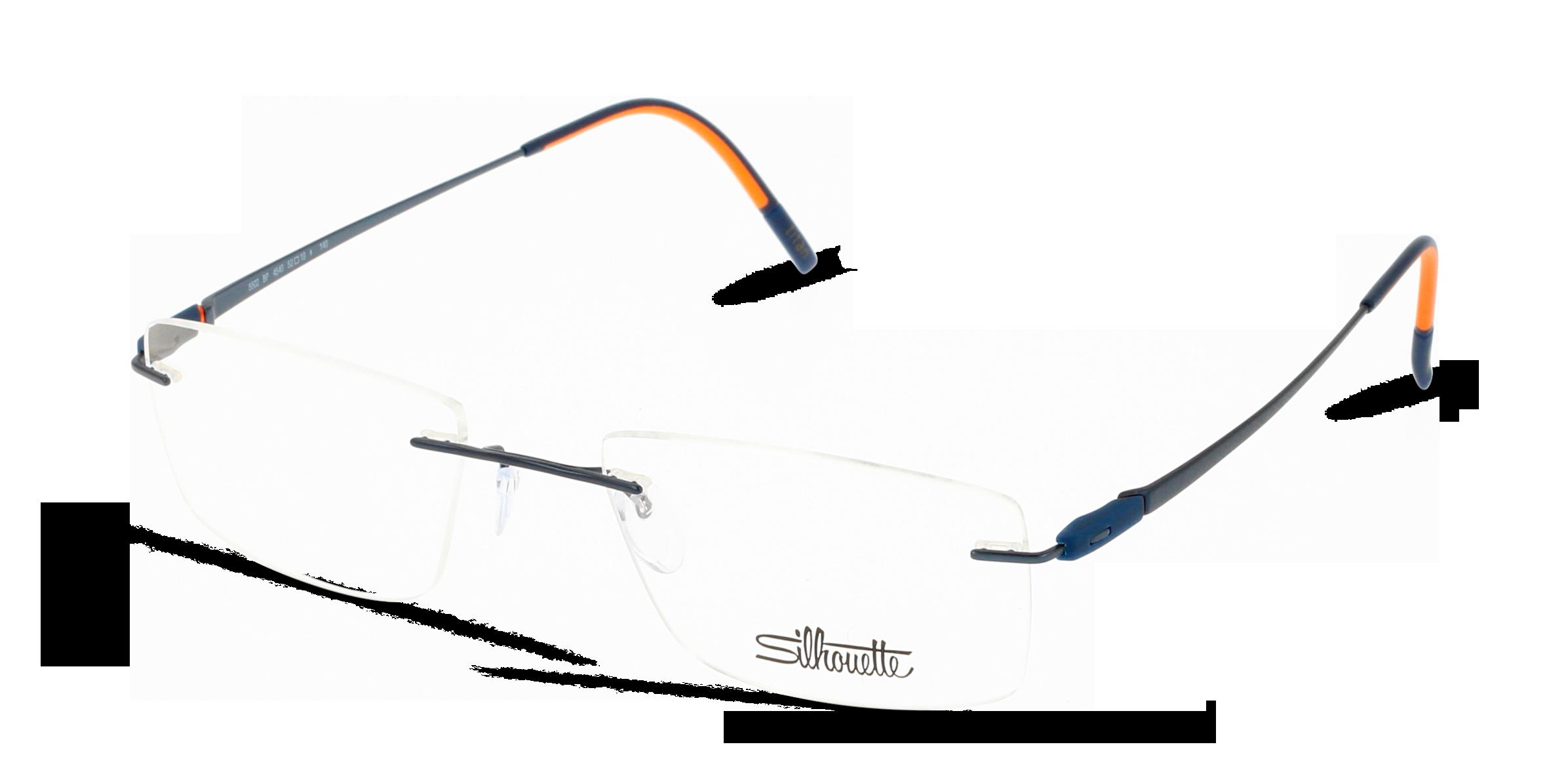 Angle_Left01 Silhouette Silhouet 5502 4540 52/19 Blu,Arancione
