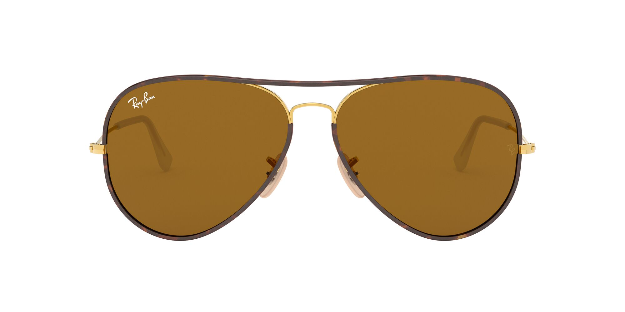 Front Ray-Ban Ray-Ban 0RB3025JM 001 58/14 Goud/Bruin