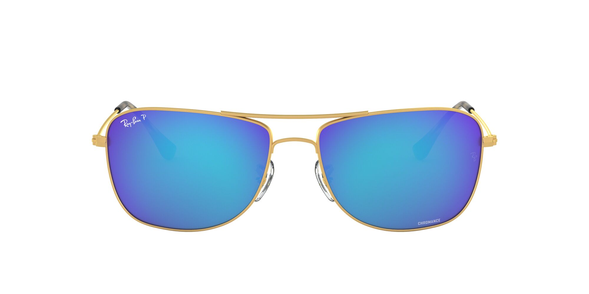 Front Ray-Ban Ray-Ban RB3543 112/A1 59/16 Goud/Blauw