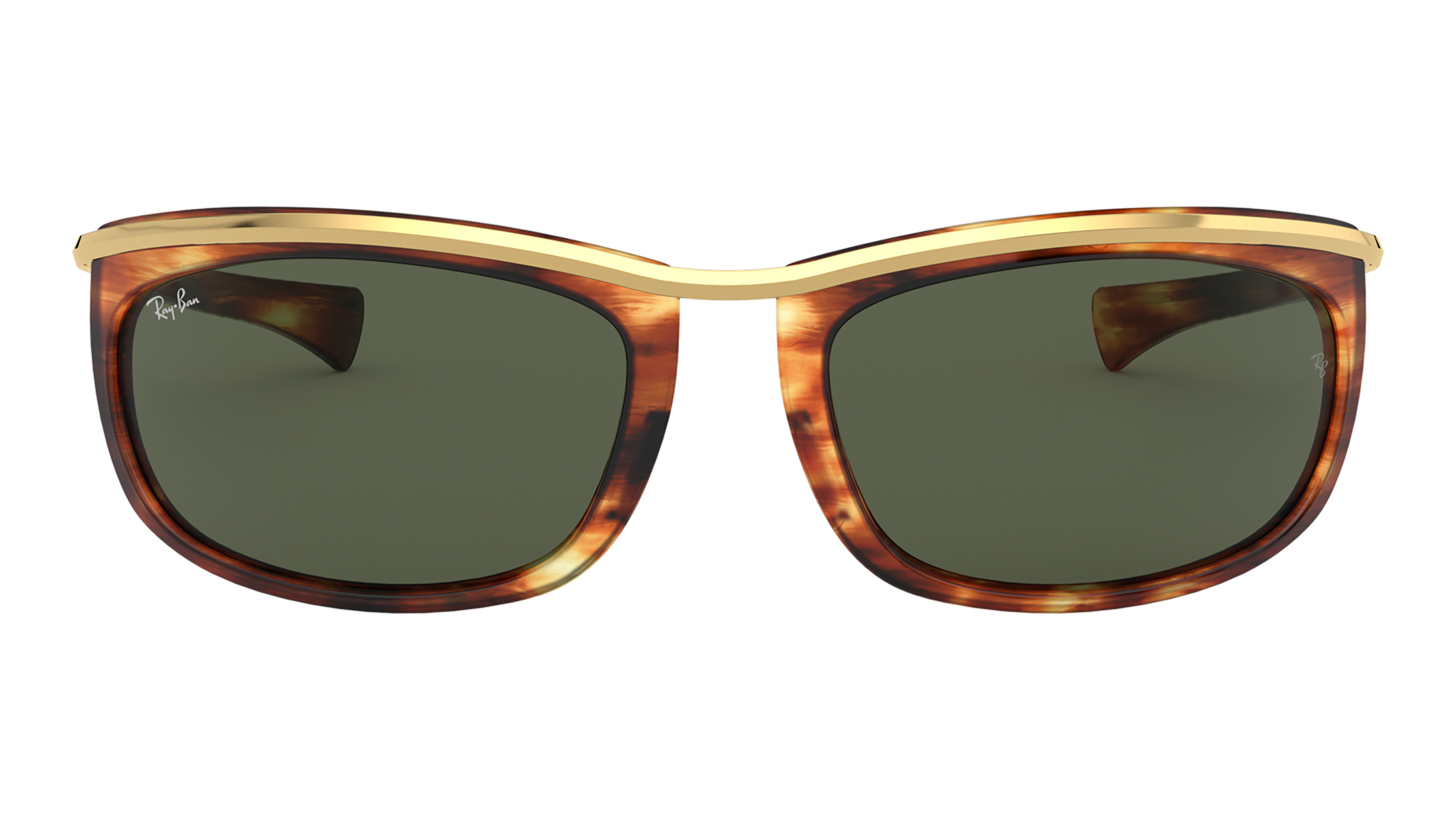 Front Ray-Ban Ray-Ban 0RB2319 954/31 62/19 Bruin, Goud/Groen