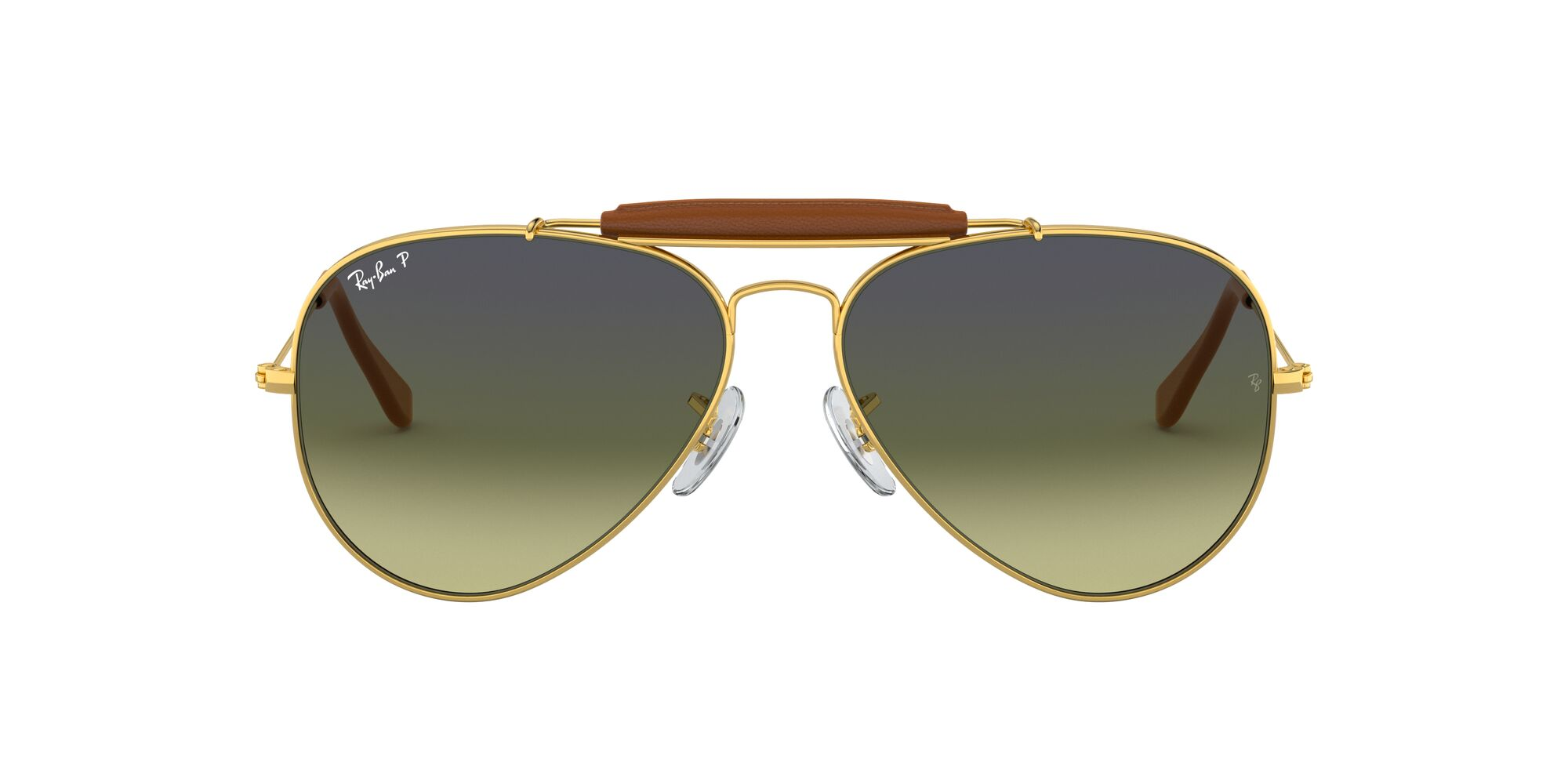 Front Ray-Ban Ray-Ban 0RB3422Q 001/M9 58/14 Goud/Groen