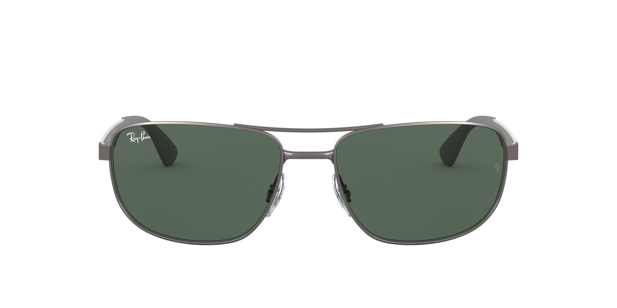 Front Ray-Ban Ray-Ban 0RB3528 029/71 61/17 Grijs, Groen/Groen