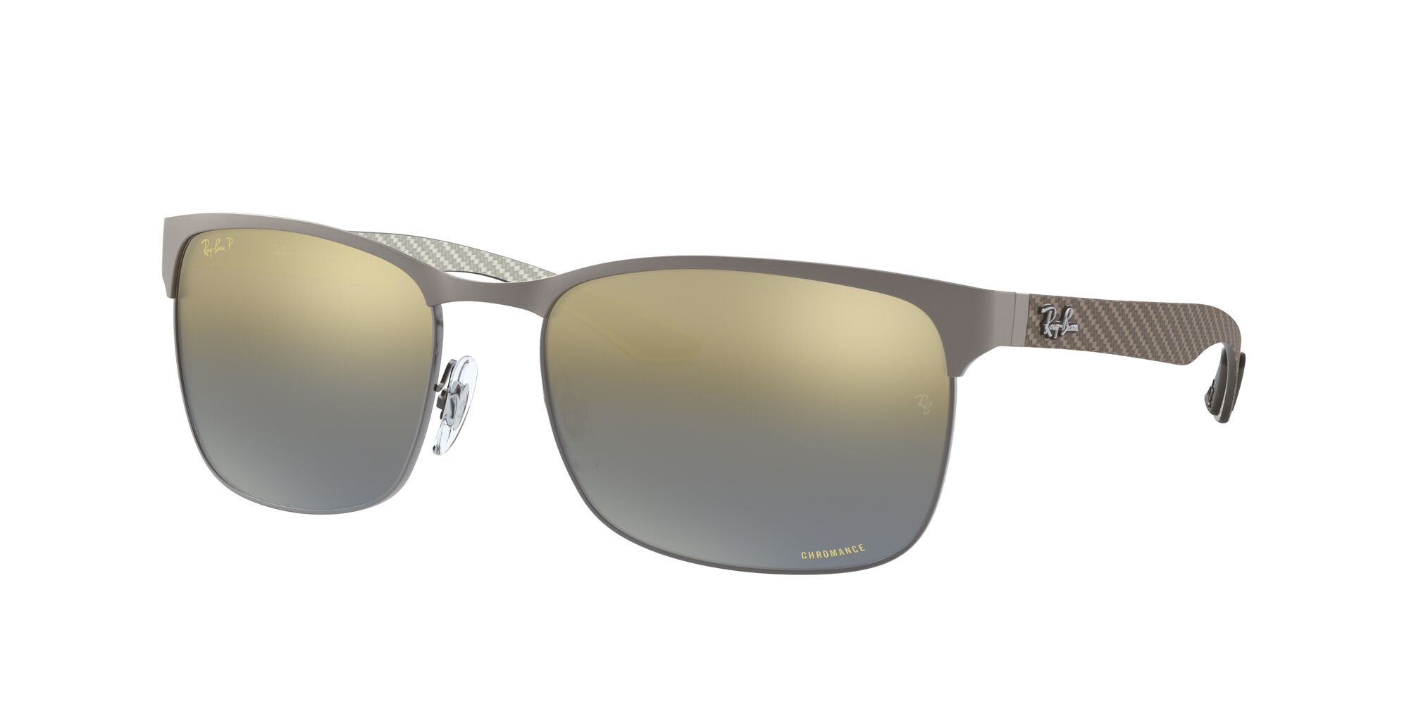 Angle_Left01 Ray-Ban Ray-Ban RB8319CH 9075J0 60/18 Zilver/Grijs