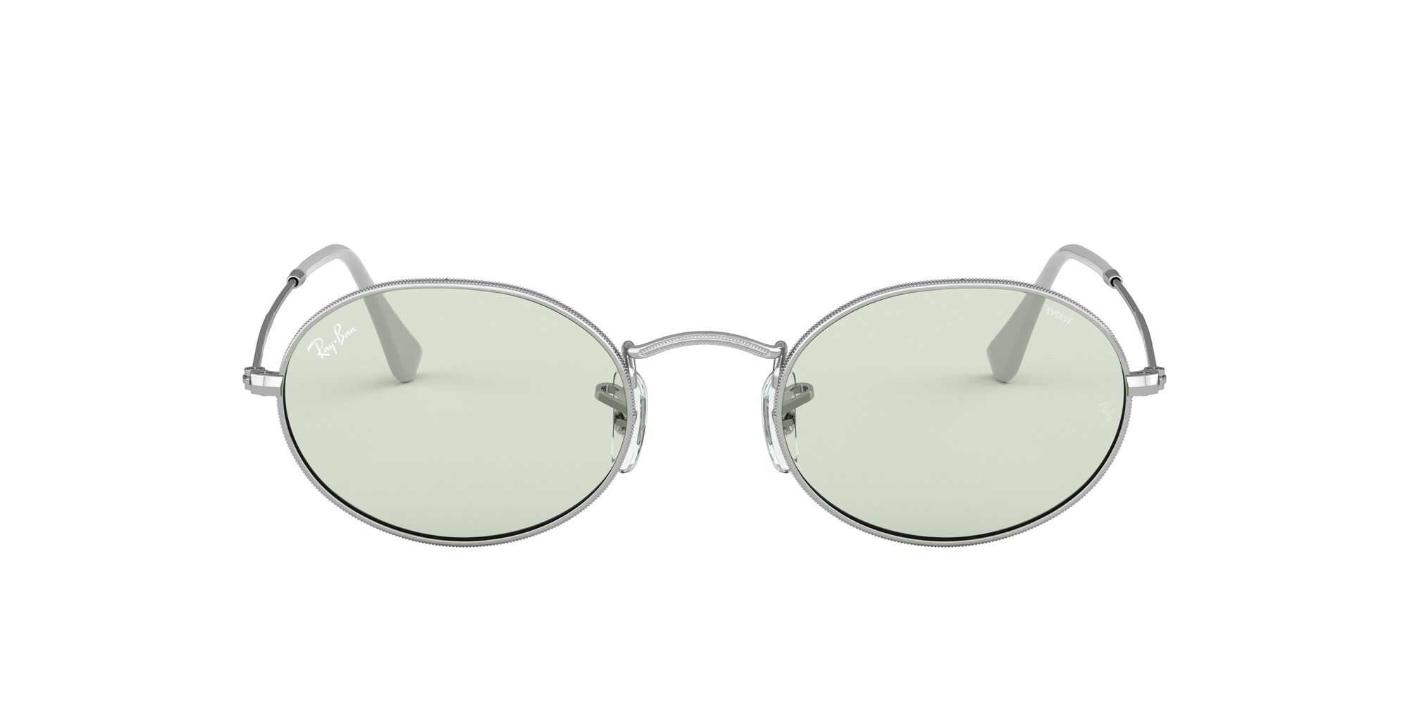 Front Ray-Ban Ray-Ban 0RB3547 003/T1 53/21 Zilver/Groen