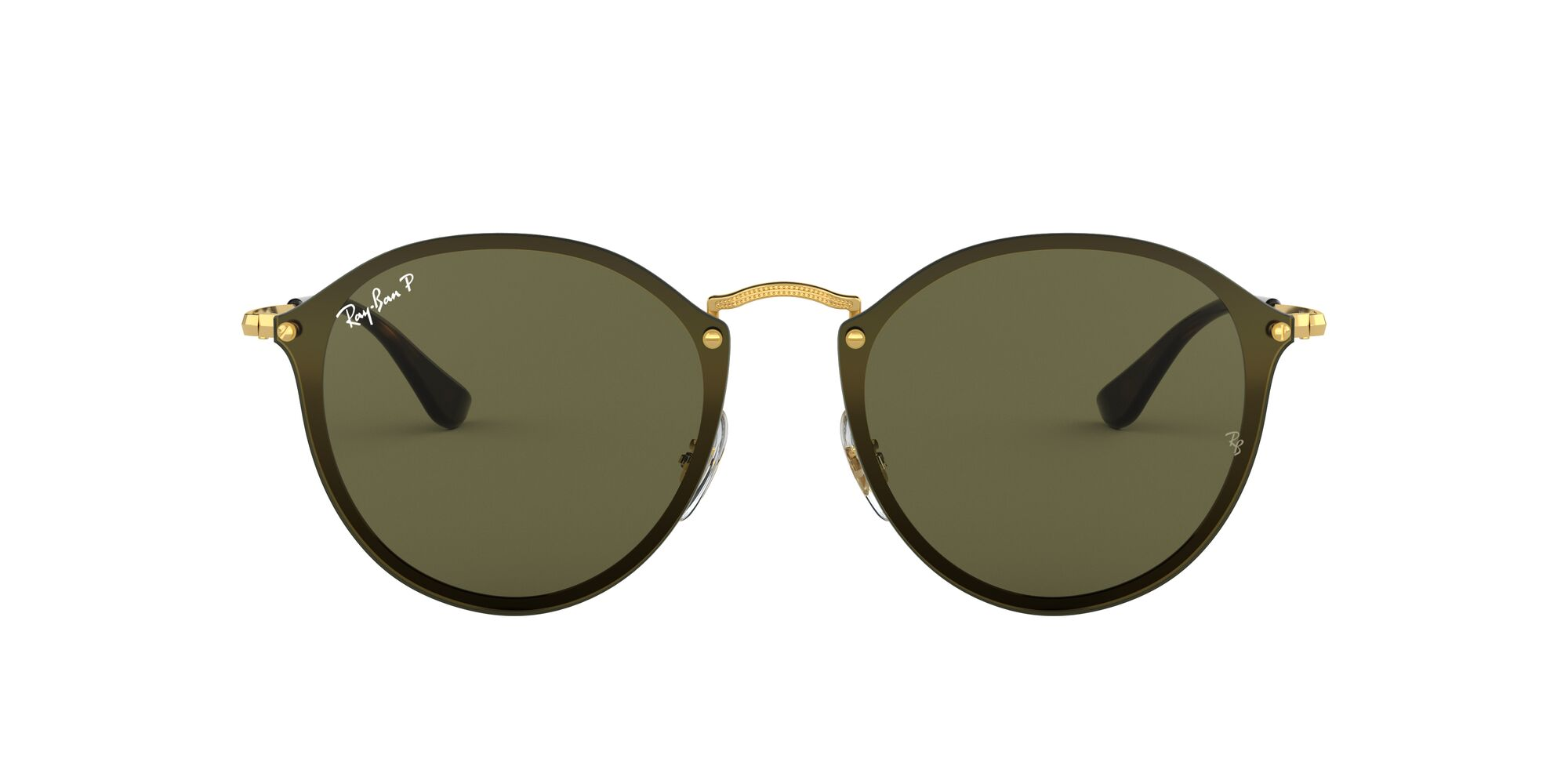 Front Ray-Ban Ray-Ban 0RB3574N 001/9A 59/14 Goud/Groen