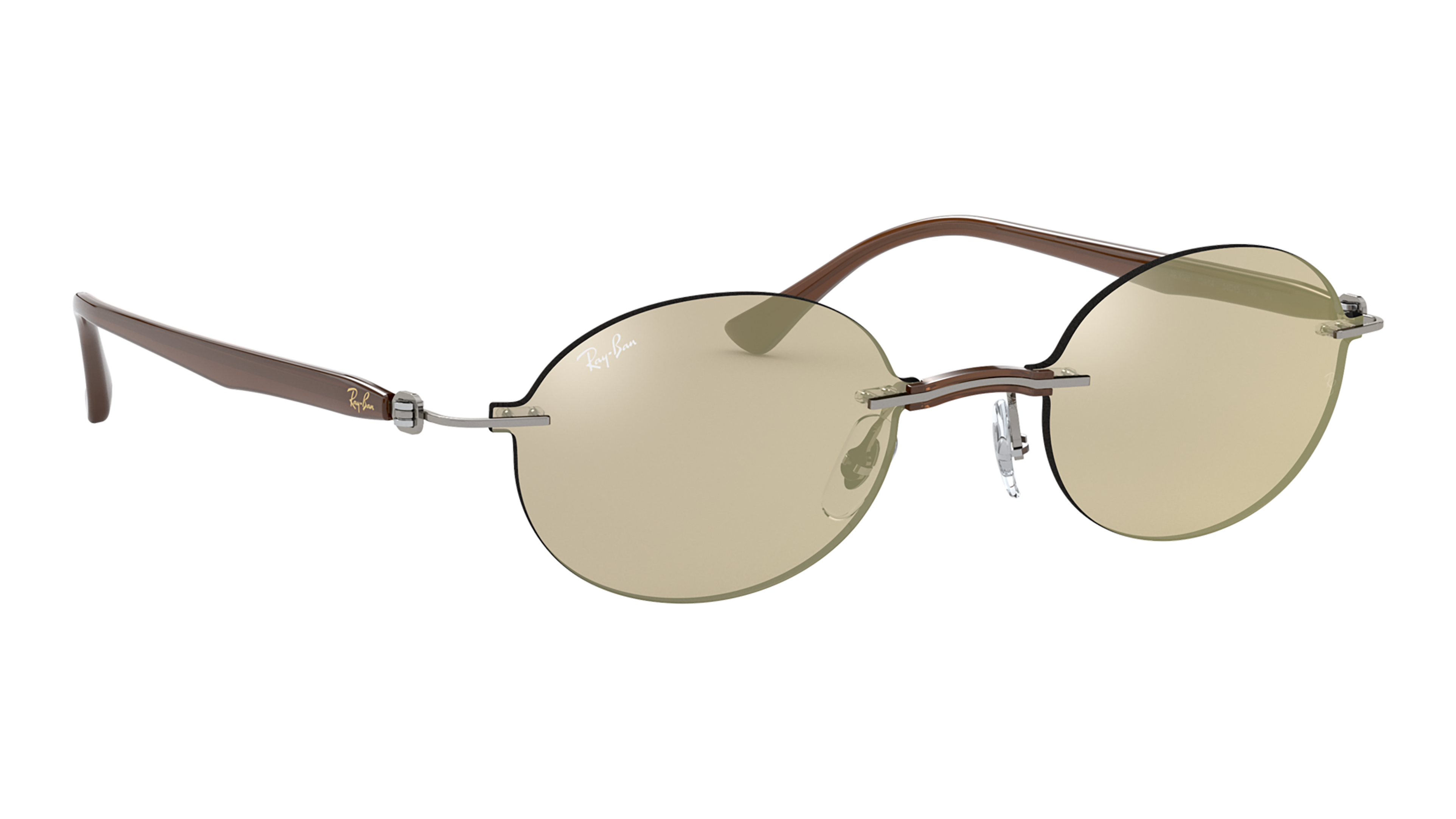 Angle_Right02 Ray-Ban Ray-Ban 0RB8060 159/5A 54/15 Transparant, Zilver/Grijs