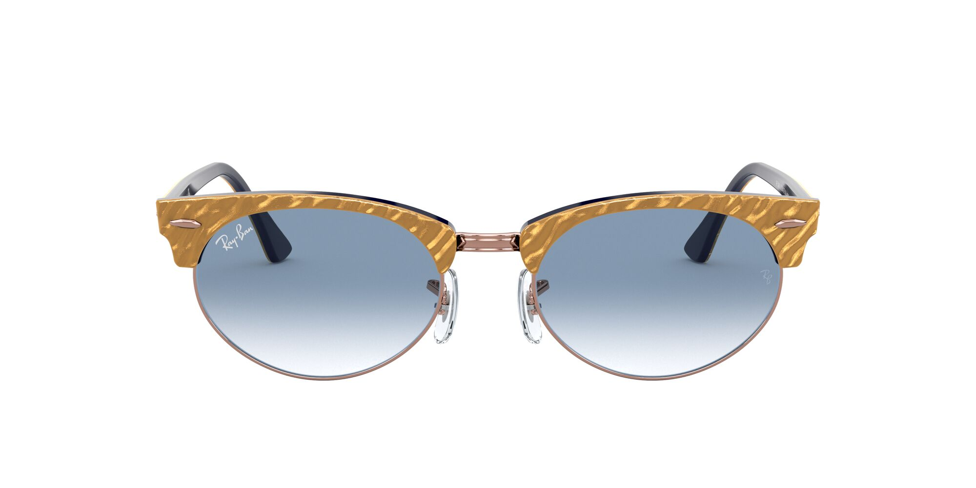 Front Ray-Ban Ray-Ban 0RB3946 13063F 51/19 Beige, Blauw/Blauw