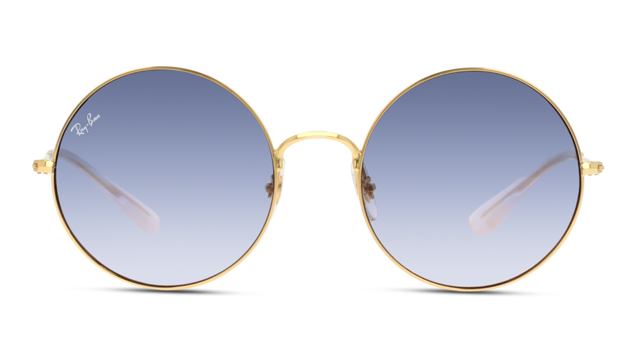 Front Ray-Ban Ray-Ban 0RB3592 001/I9 55/20 Goud/Blauw