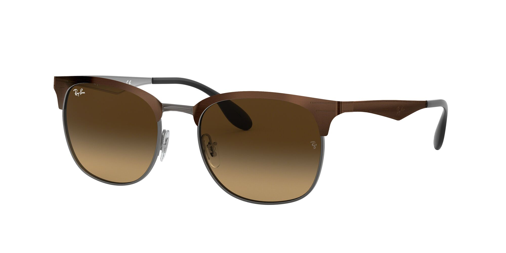 Angle_Left01 Ray-Ban Ray-Ban 0RB3538 188/13 53/19 Bruin, Zilver/Bruin