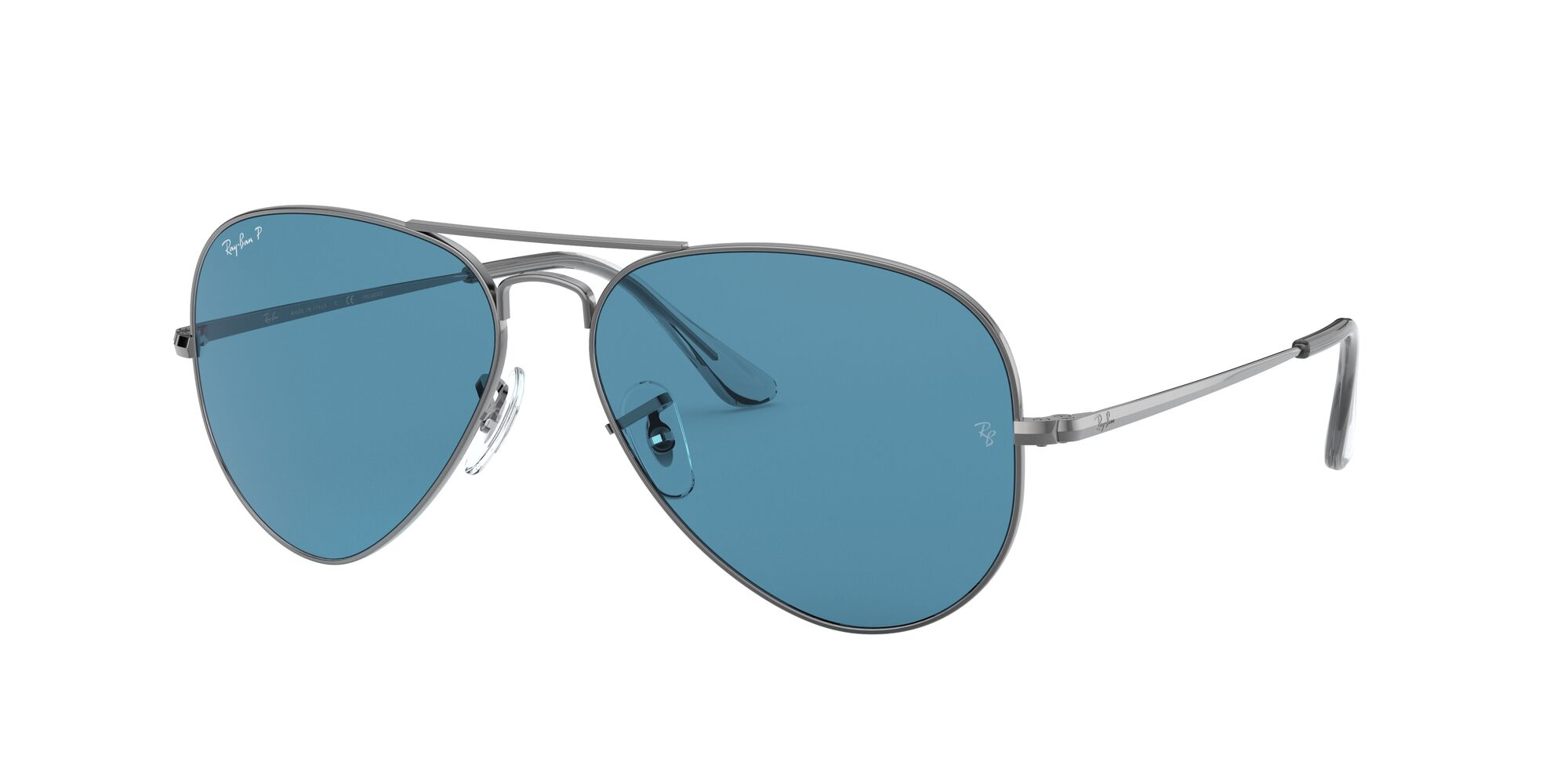 Angle_Left01 Ray-Ban Ray-Ban 0RB3689 004/S2 54/14 Zilver/Blauw