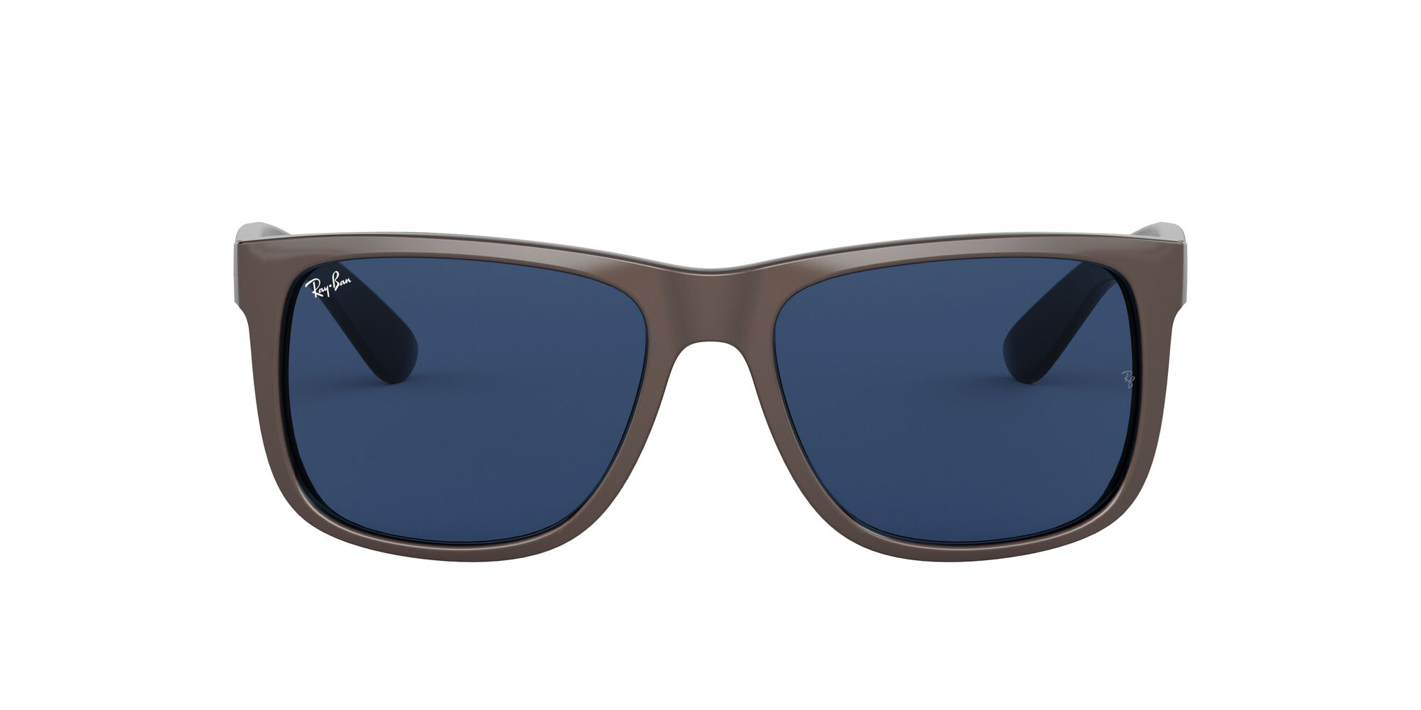 Front Ray-Ban Ray-Ban 0RB4165 647080 53/16 Bruin, Zilver/Blauw