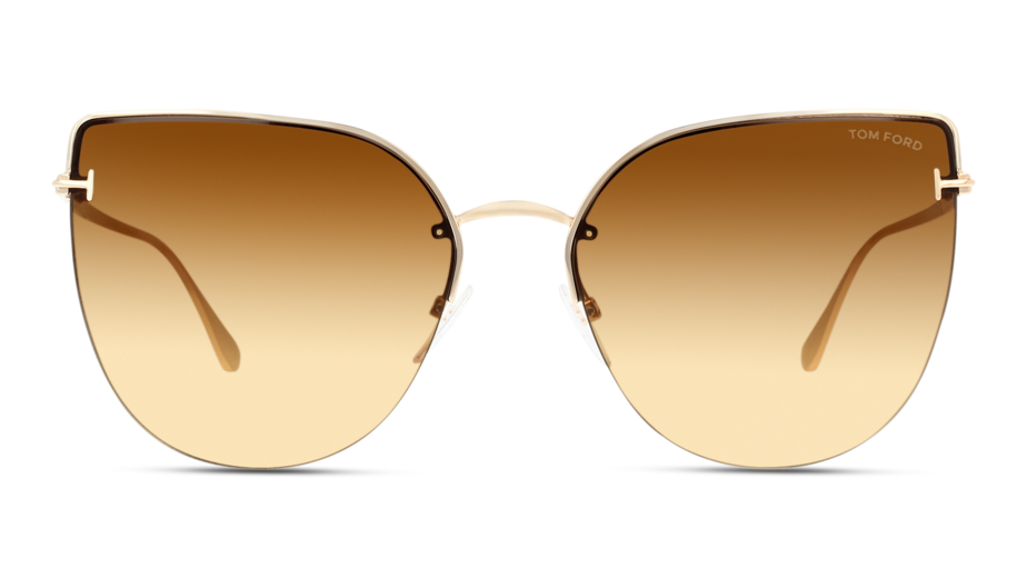 Front Tom Ford TomFord 0652 28F 60/17 Oro,Rosa/Marrone
