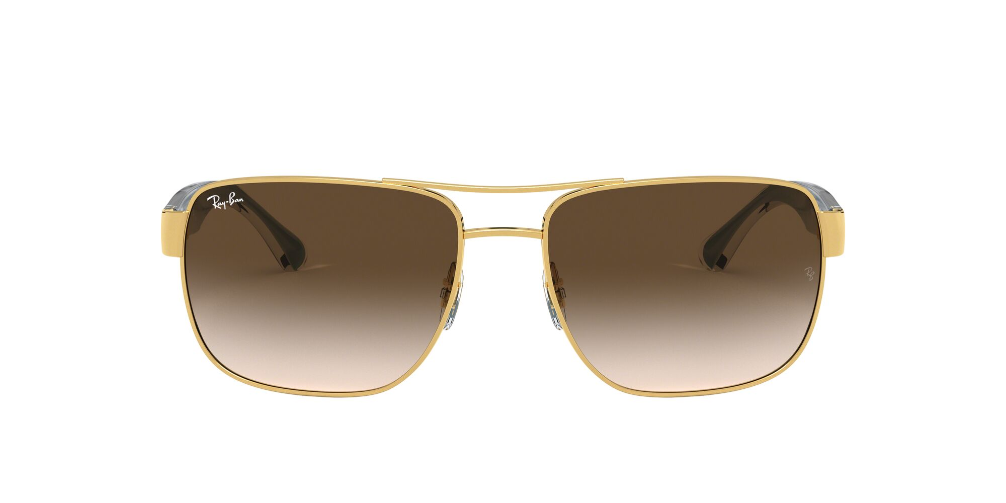 Front Ray-Ban Ray-Ban 0RB3530 001/13 58/17 Goud/Bruin