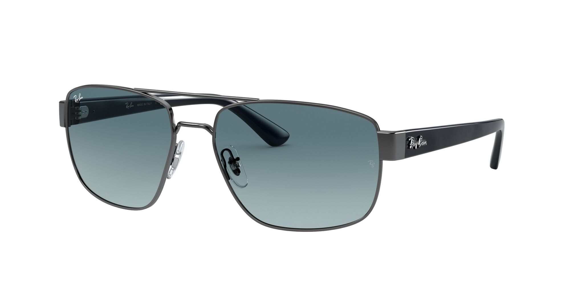 Angle_Left01 Ray-Ban Ray-Ban 0RB3663 004/3M 59/17 Zilver/Blauw