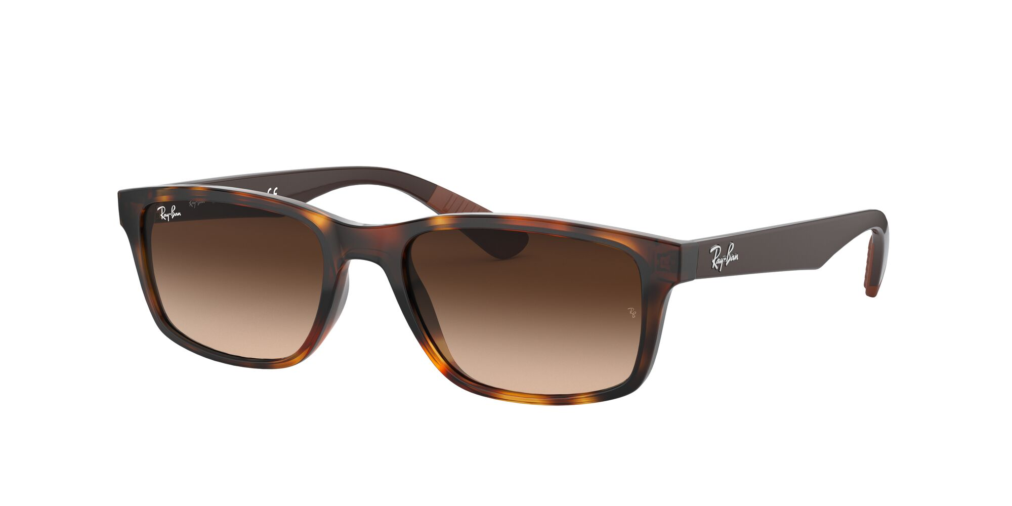 Angle_Left01 Ray-Ban Ray-Ban 0RB4234 620513 58/16 Bruin, Zilver/Bruin