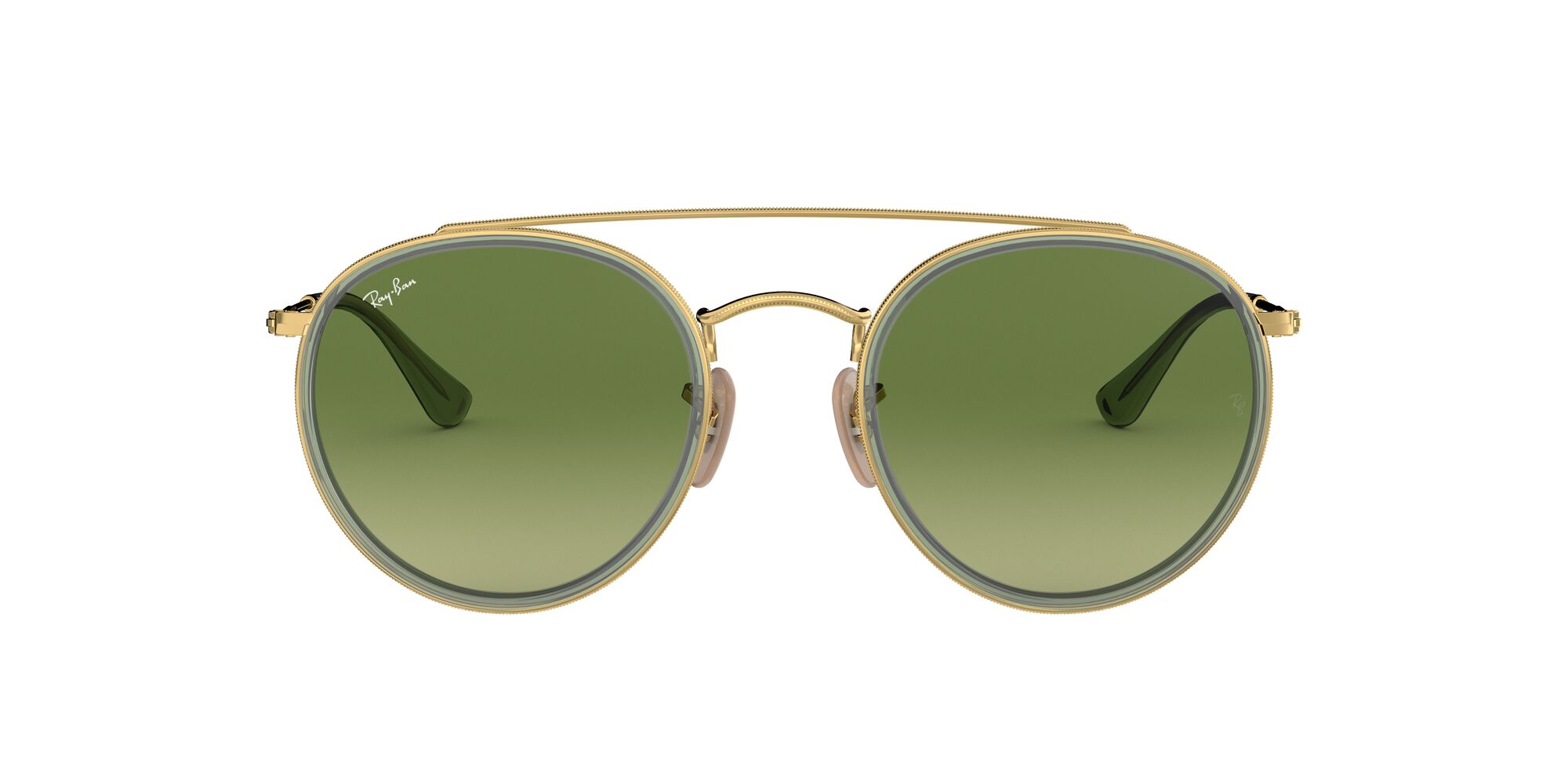 Front Ray-Ban Ray-Ban 0RB3647N 91224M 51/22 Goud/Groen