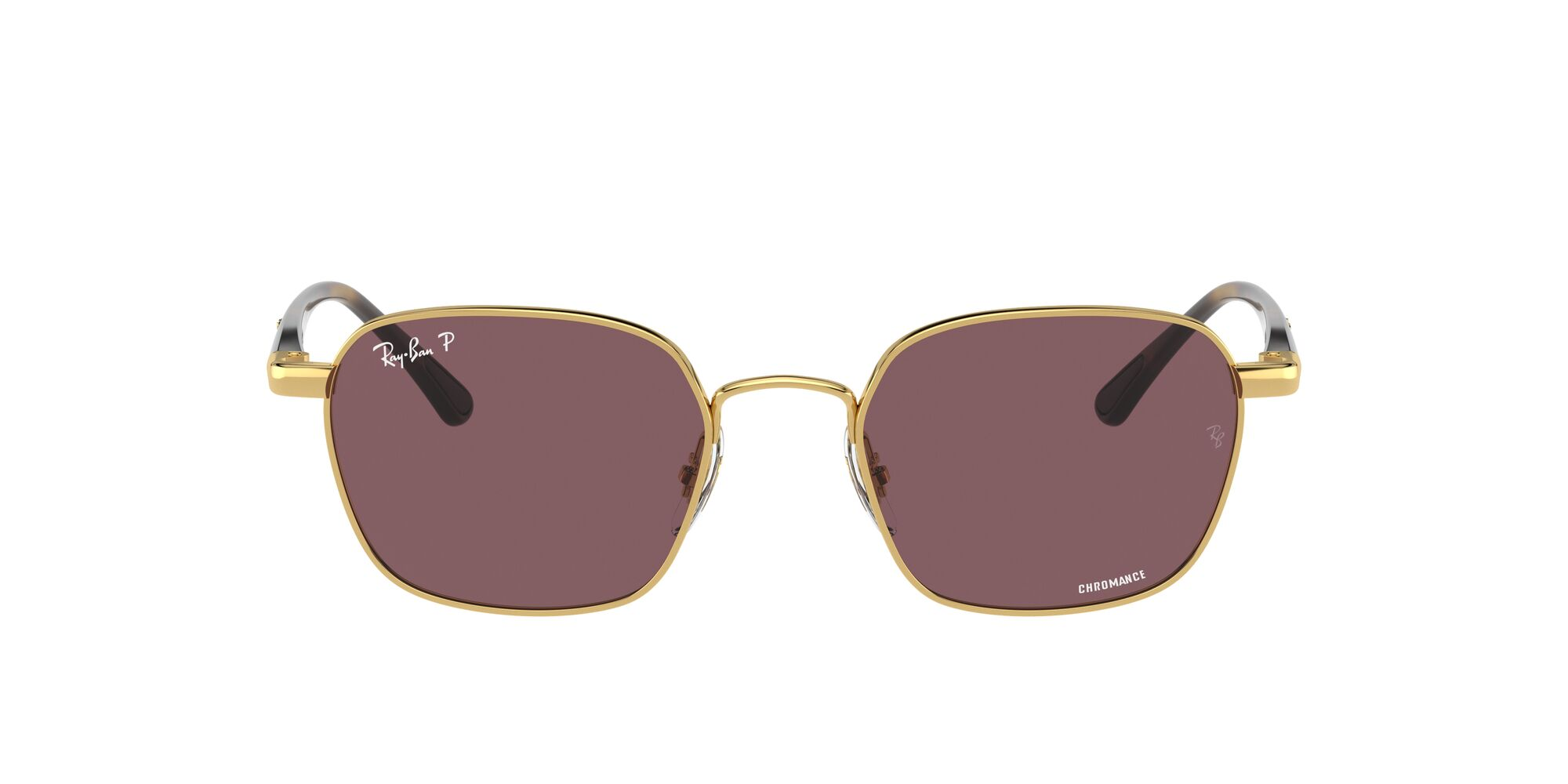 Front Ray-Ban Ray-Ban 0RB3664CH 001/BC 50/19 Goud/Paars