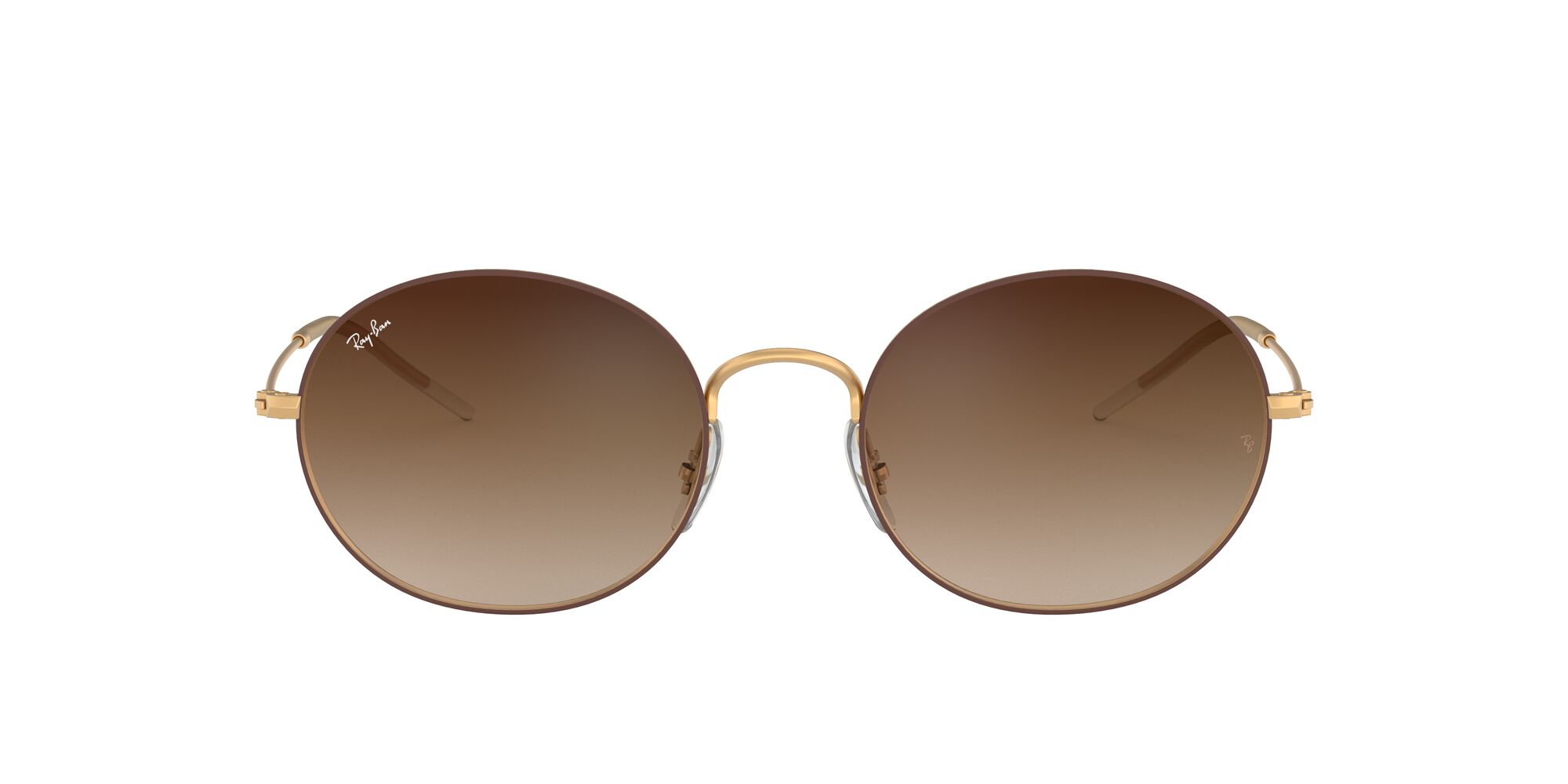 Front Ray-Ban Ray-Ban 0RB3594 9115S0 53/20 Goud/Bruin
