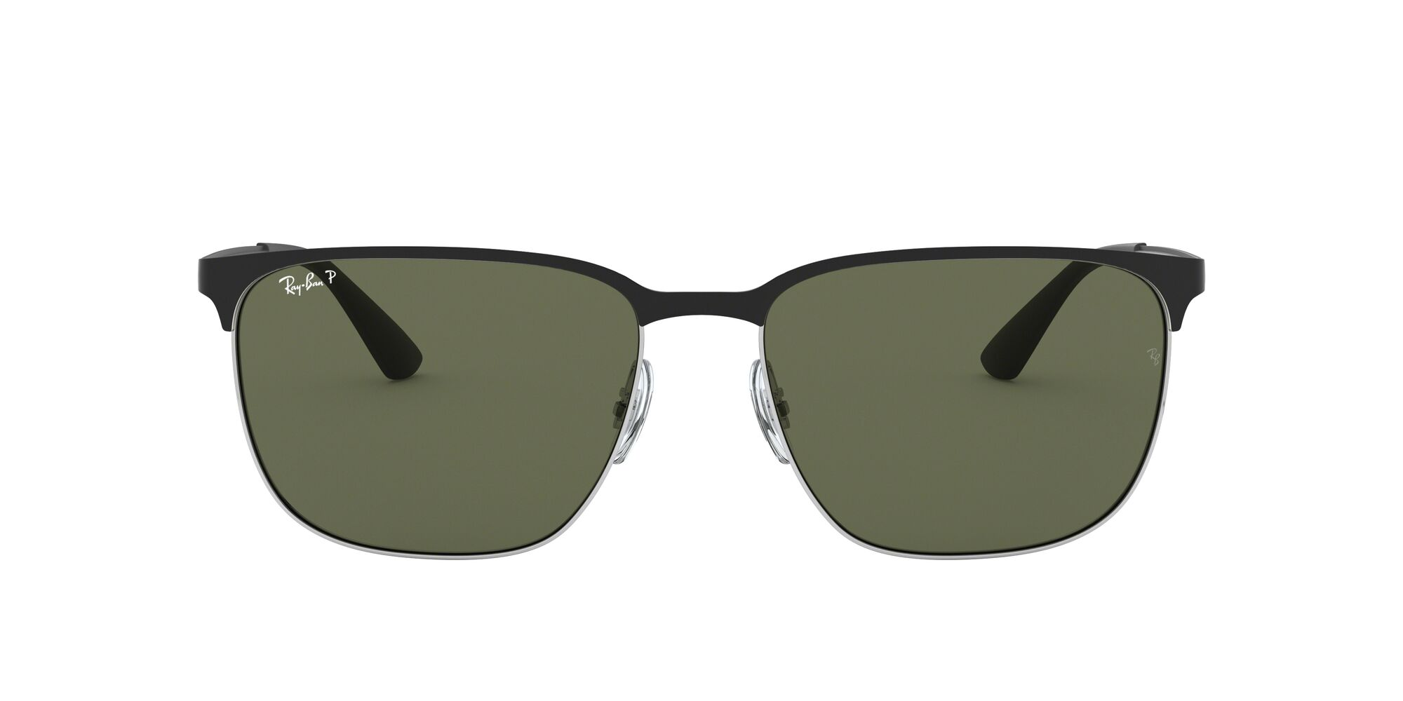 Front Ray-Ban Ray-Ban 0RB3569 90049A 59/17 Zilver/Groen
