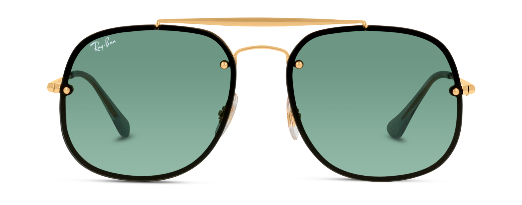 Front Ray-Ban Ray-Ban 0RB3583N 905071 58/16 Goud/Groen