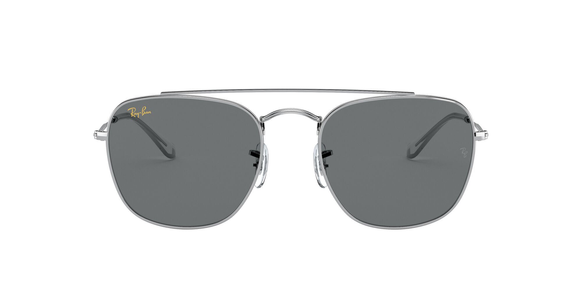 Front Ray-Ban Ray-Ban 0RB3557 9198B1 51/20 Zilver/Grijs