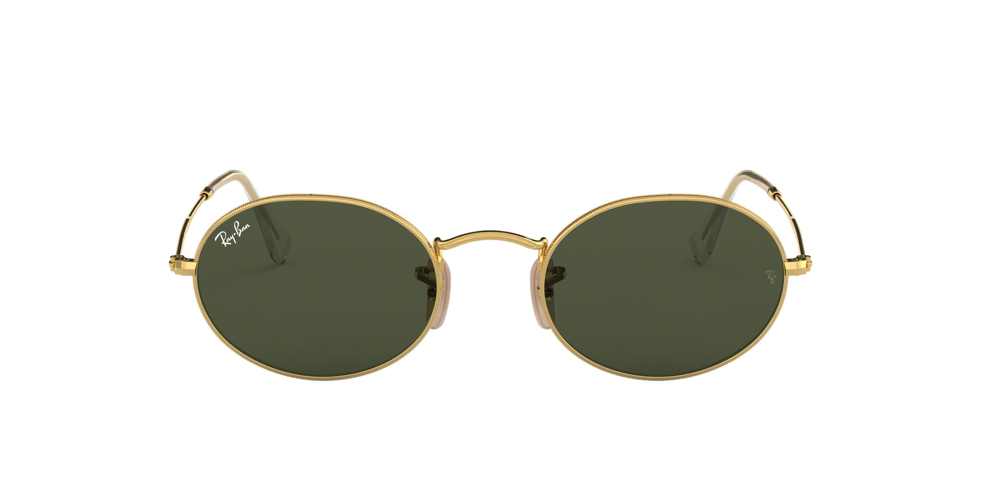 Front Ray-Ban Ray-Ban 0RB3547 001/31 54/21 Goud/Groen