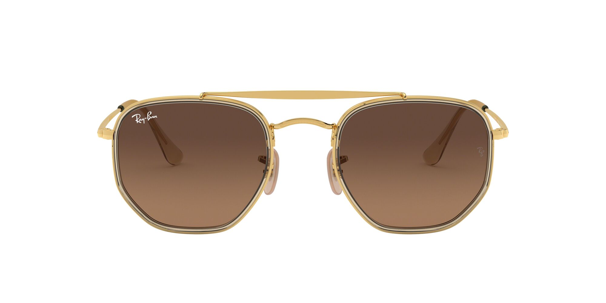 Front Ray-Ban Ray-Ban 0RB3648M 912443 52/23 Goud/Bruin